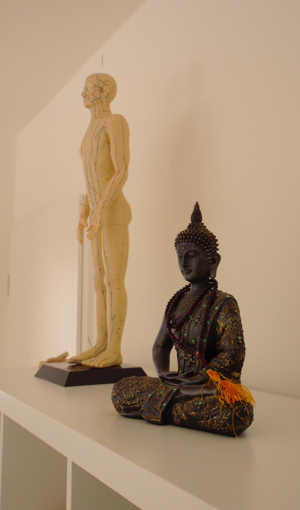 in der Praxis trifft sich die indische Lehre mit der TCM und der Akupunktur